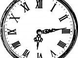 Clock Coloring Page WeColoringPage 036