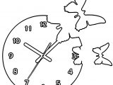 Clock Coloring Page WeColoringPage 045