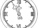 Clock Coloring Page WeColoringPage 048