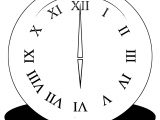 Clock Coloring Page WeColoringPage 054