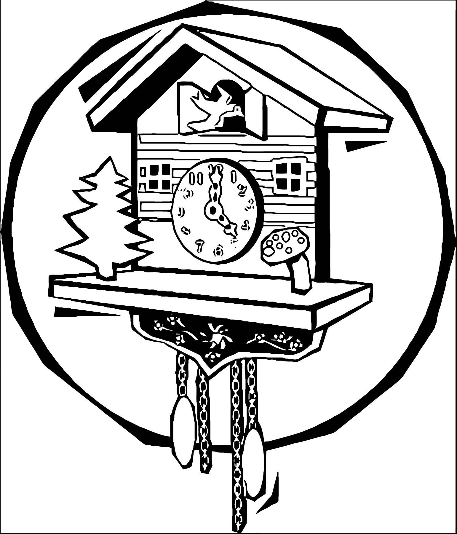 Clock Coloring Page WeColoringPage 055