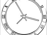 Clock Coloring Page WeColoringPage 058