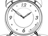 Clock Coloring Page WeColoringPage 061