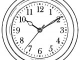 Clock Coloring Page WeColoringPage 062
