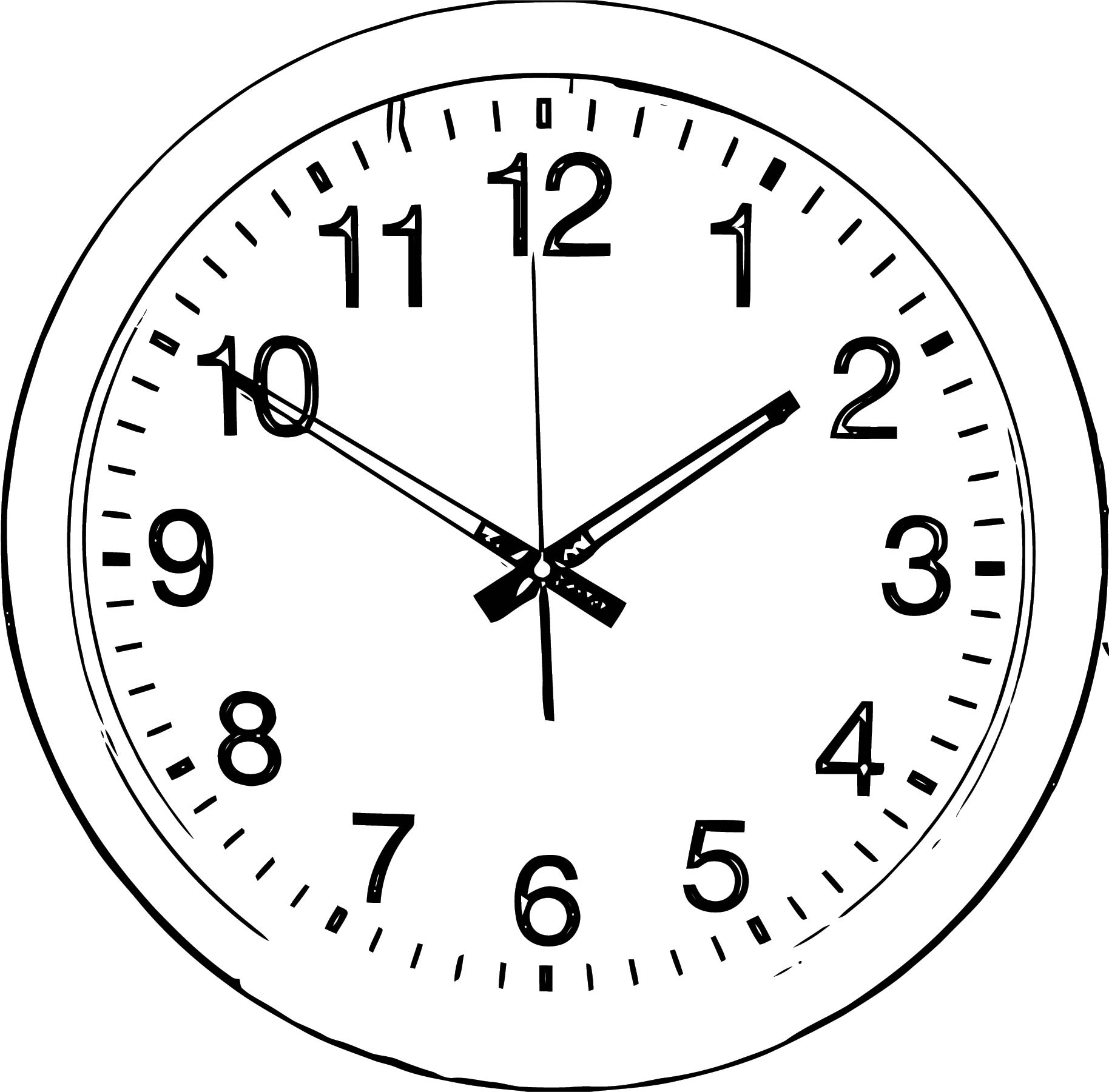 Clock Coloring Page WeColoringPage 064