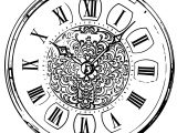 Clock Coloring Page WeColoringPage 065
