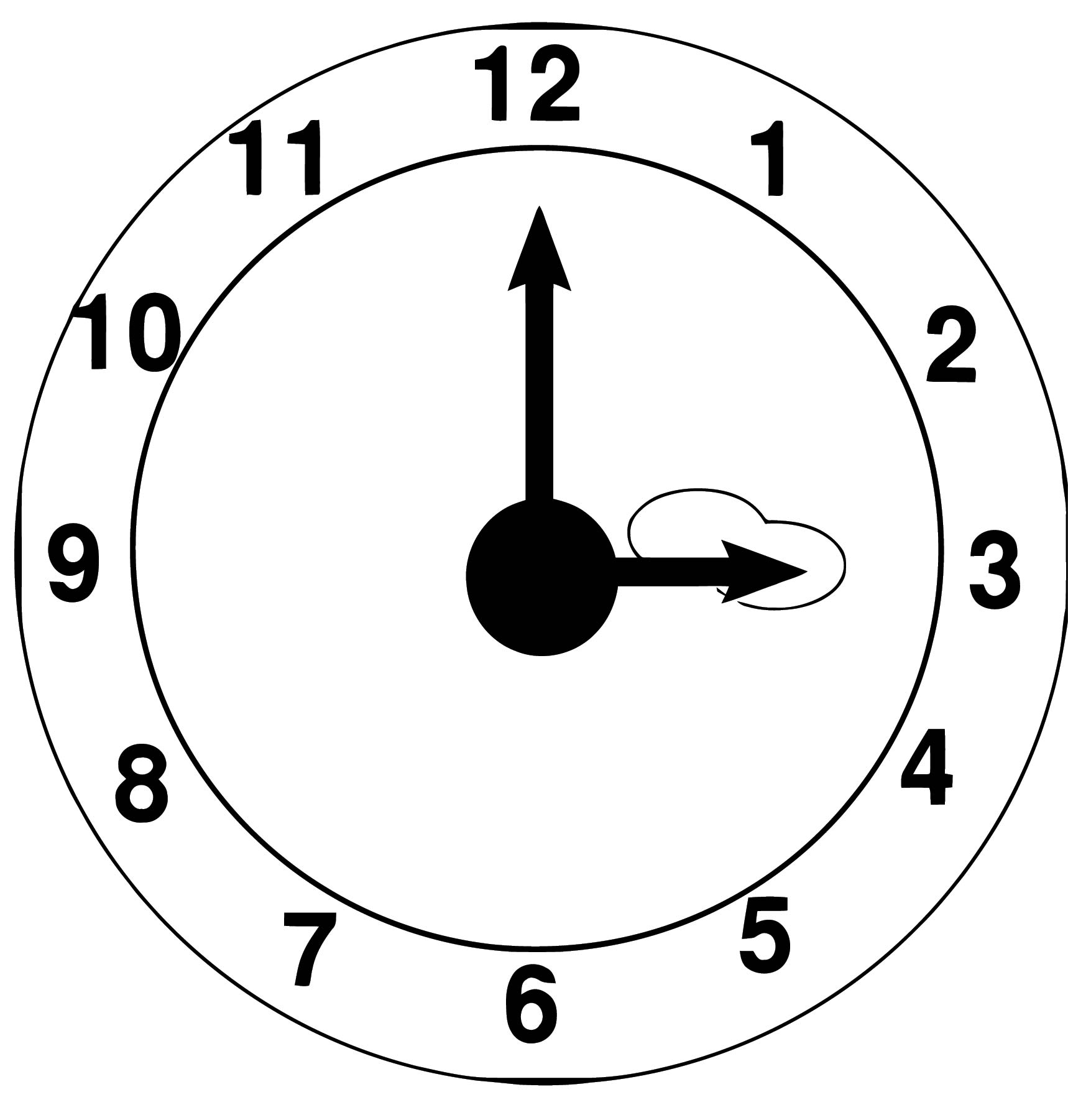 Clock Coloring Page WeColoringPage 066