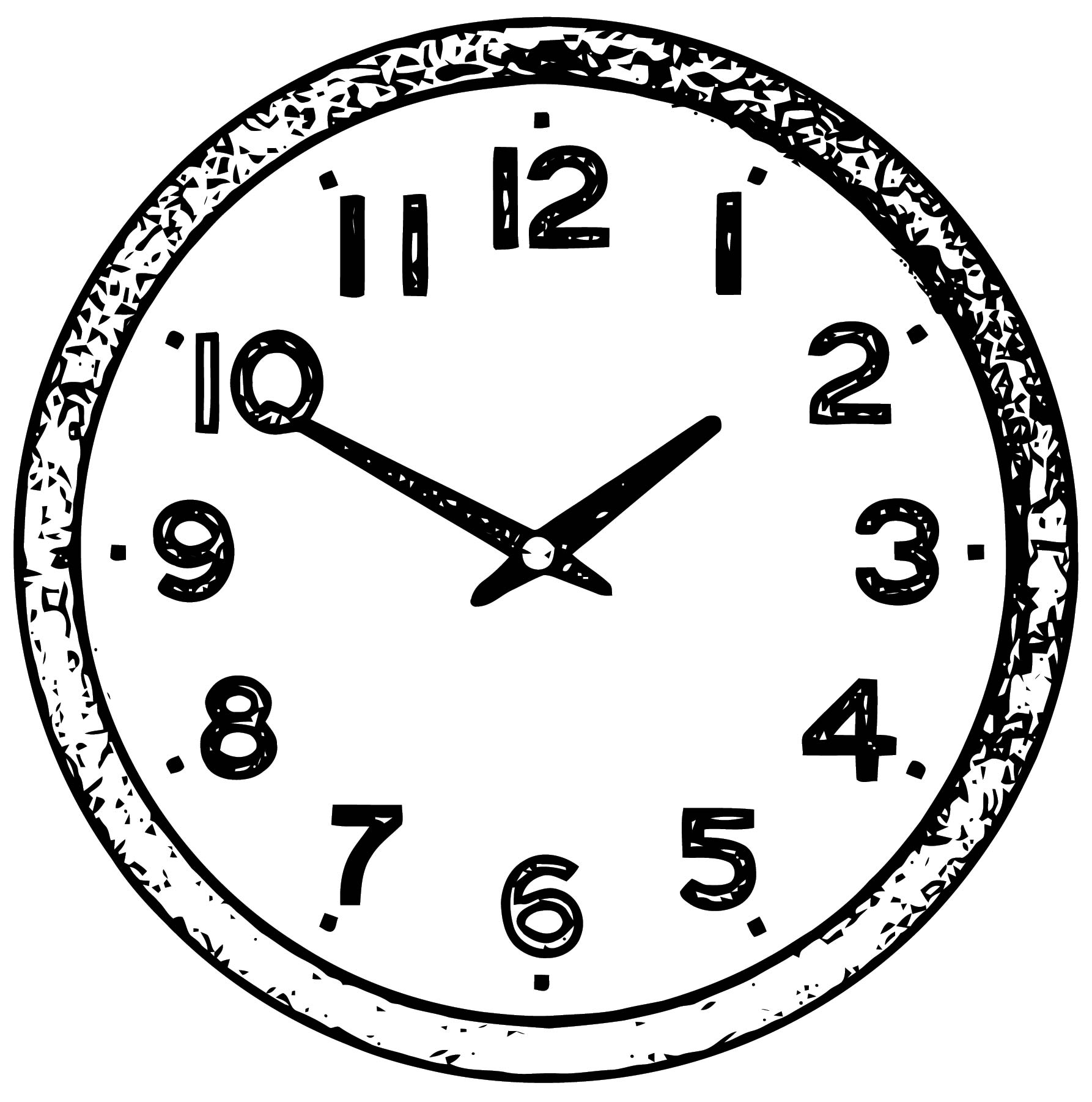 Clock Coloring Page WeColoringPage 068