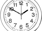 Clock Coloring Page WeColoringPage 069
