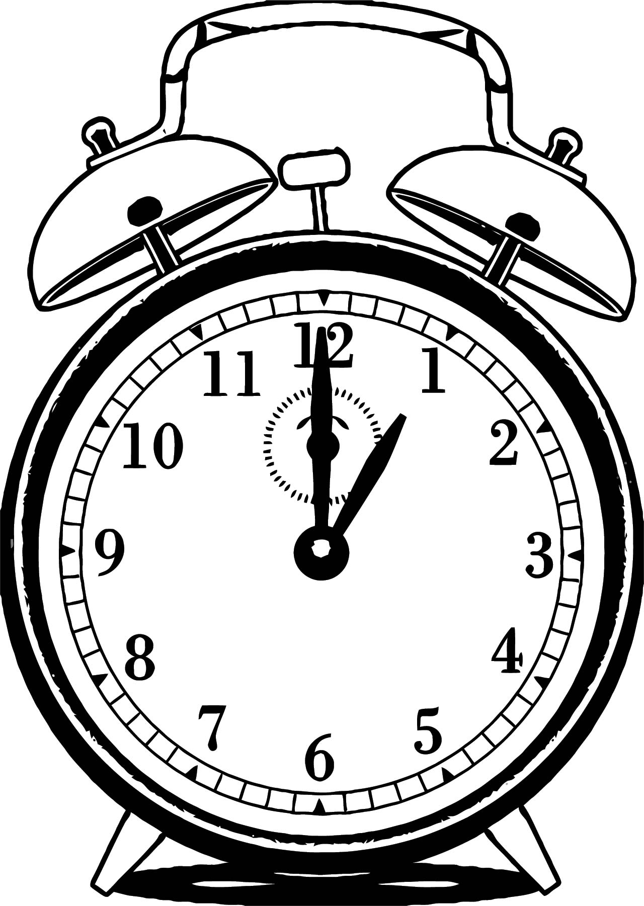 clock coloring page wecoloringpage 071