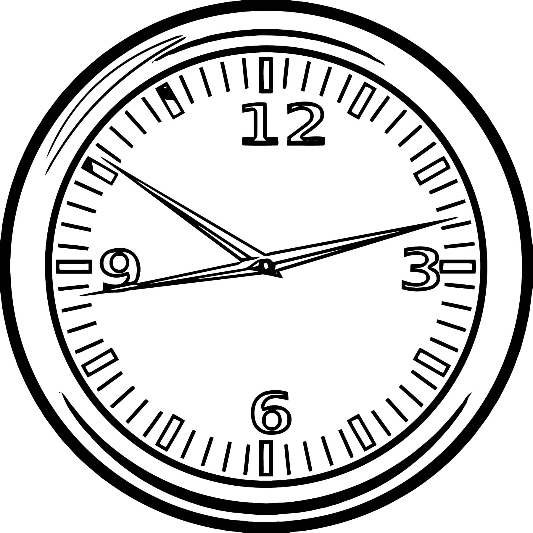 Clock Coloring Page WeColoringPage 074