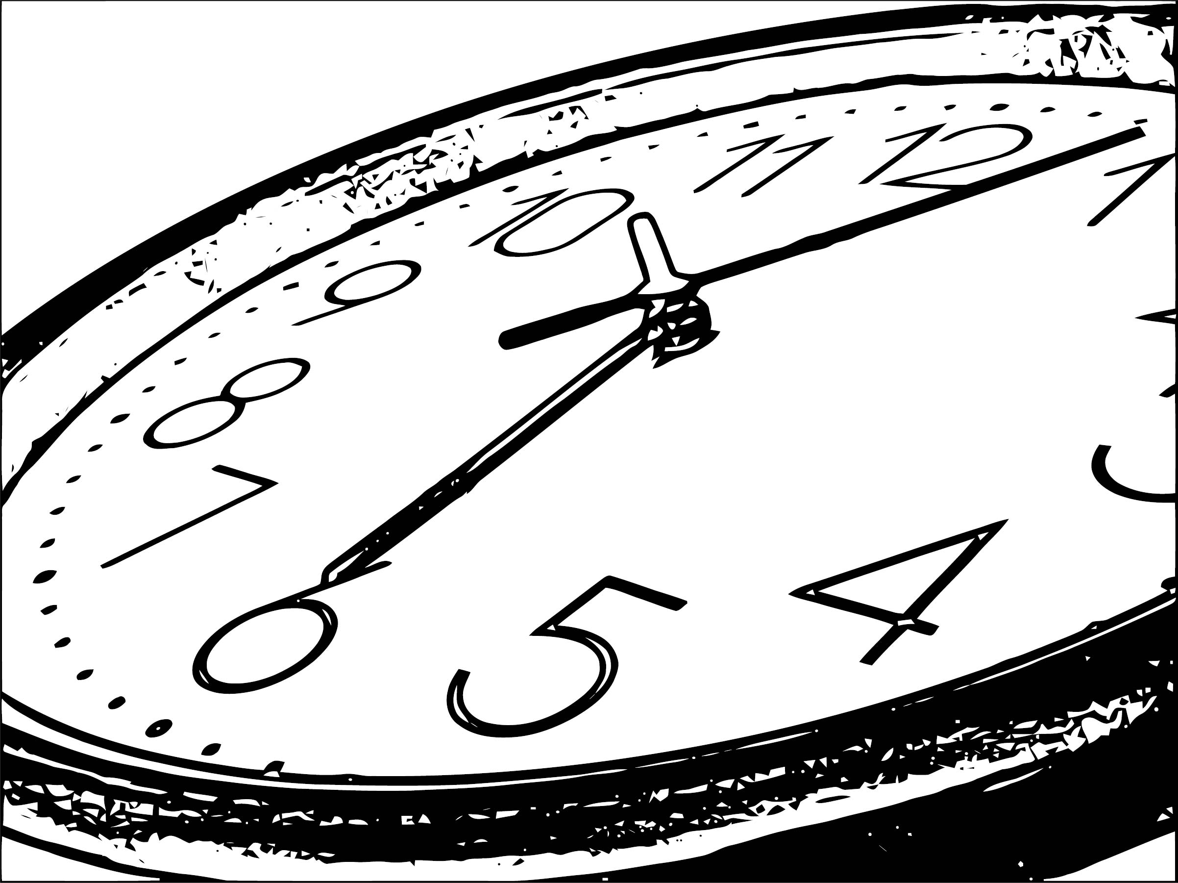 Clock Coloring Page WeColoringPage 075