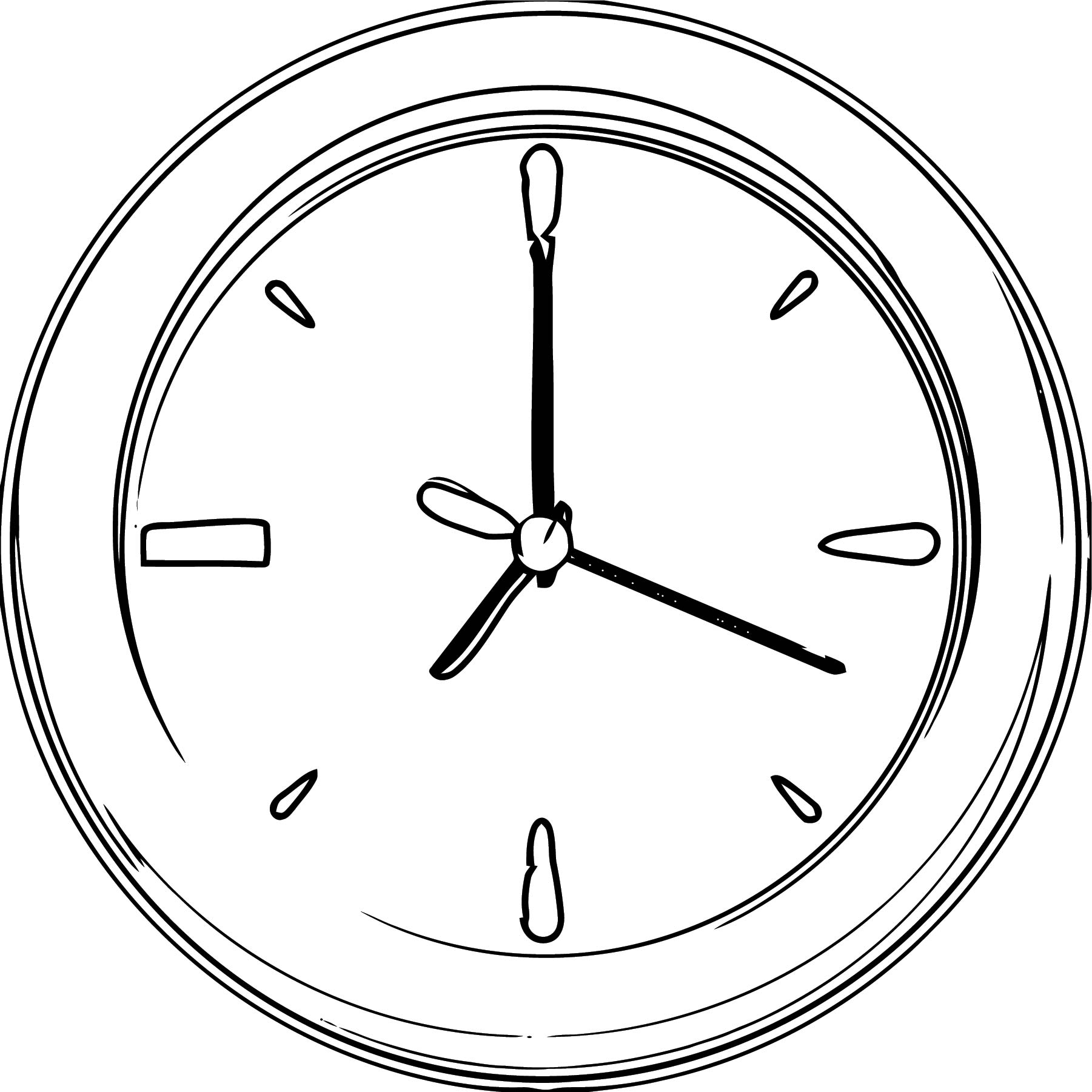 Clock Coloring Page WeColoringPage 077