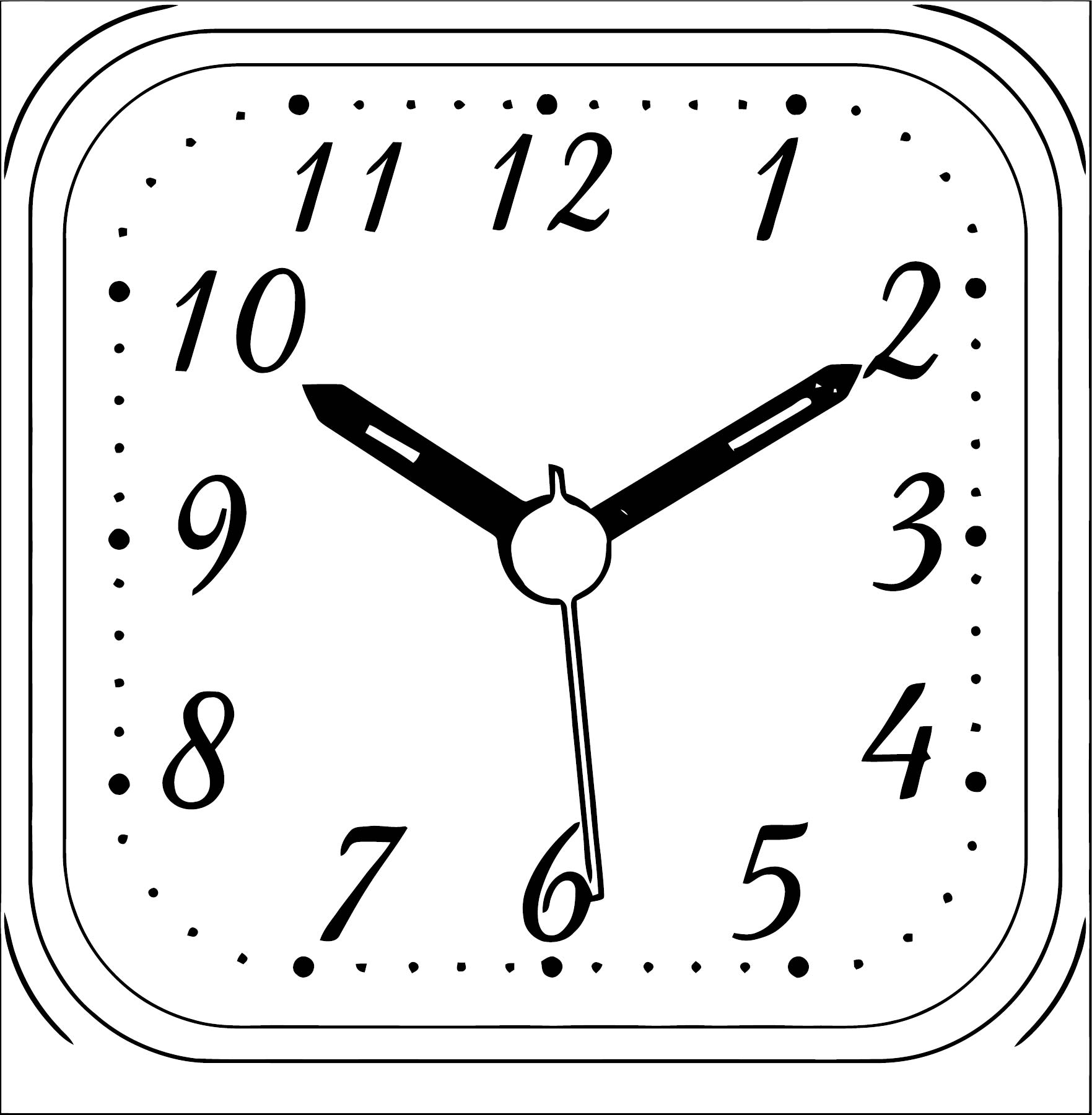 Clock Coloring Page WeColoringPage 082