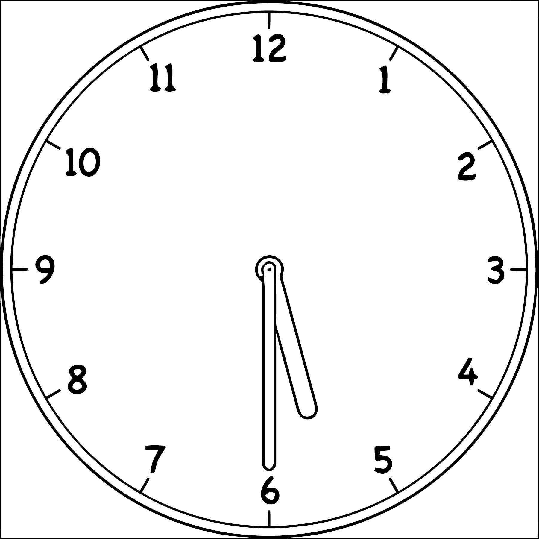 Clock Coloring Page WeColoringPage 083