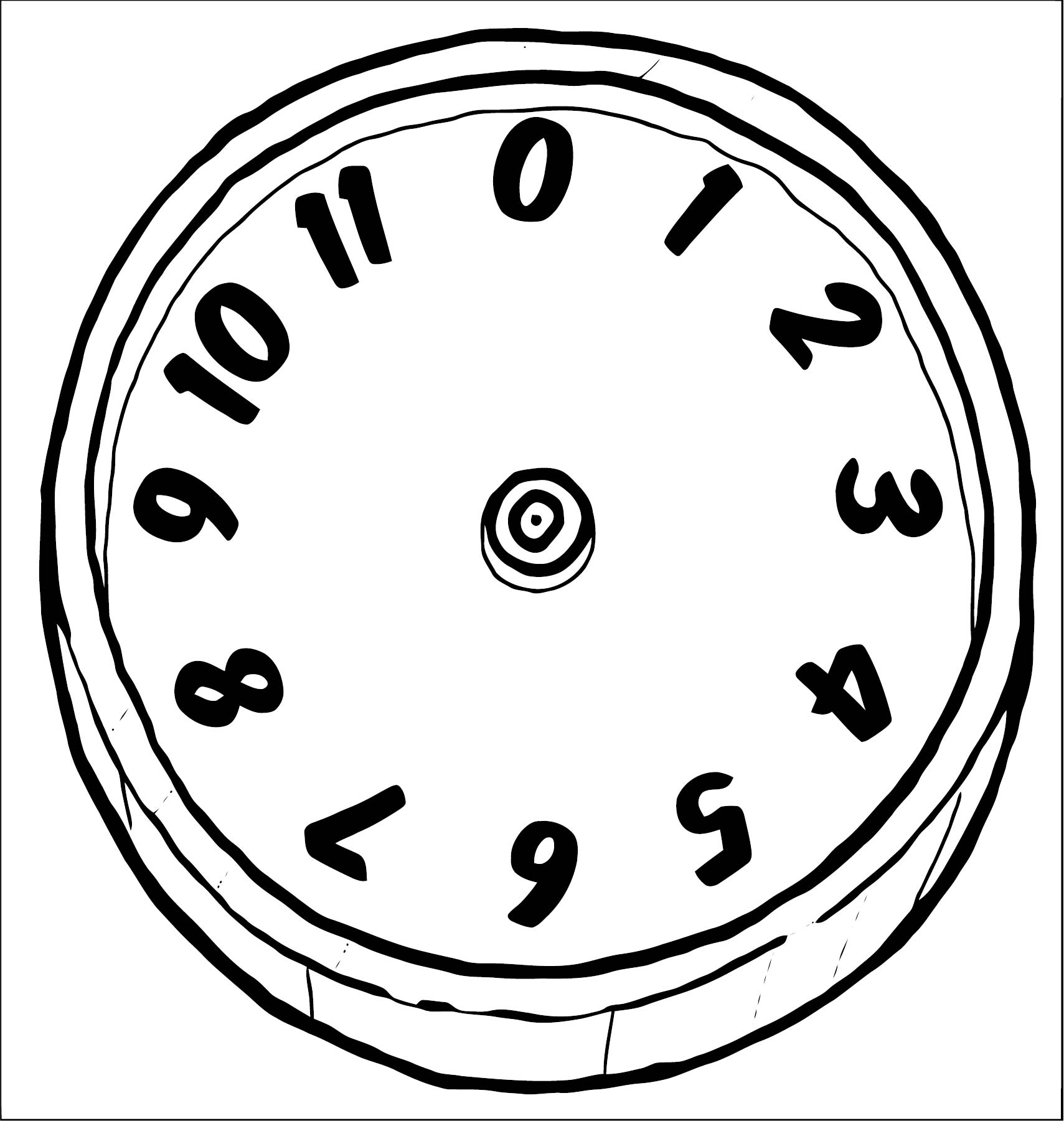 Clock Coloring Page WeColoringPage 084