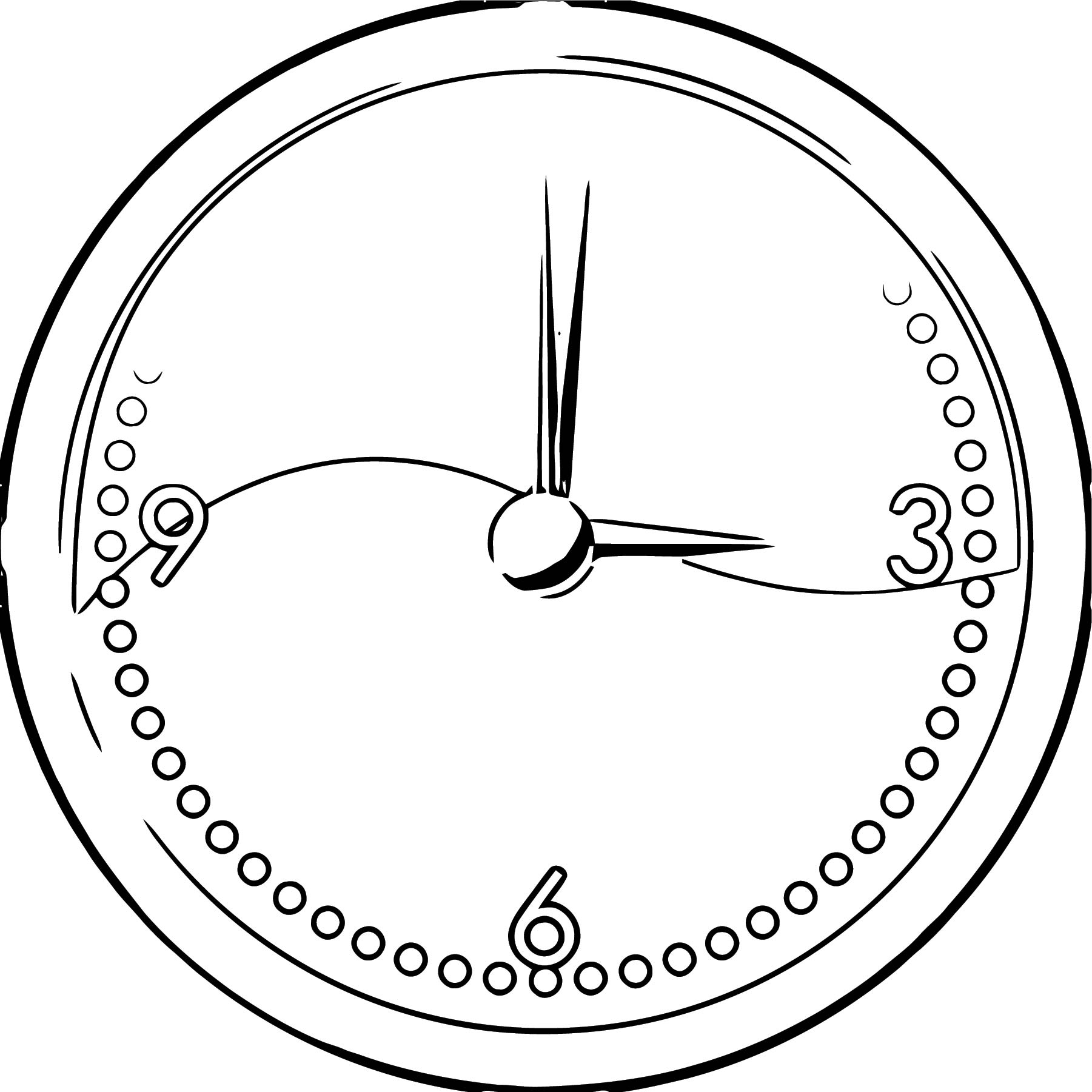 Clock Coloring Page WeColoringPage 085