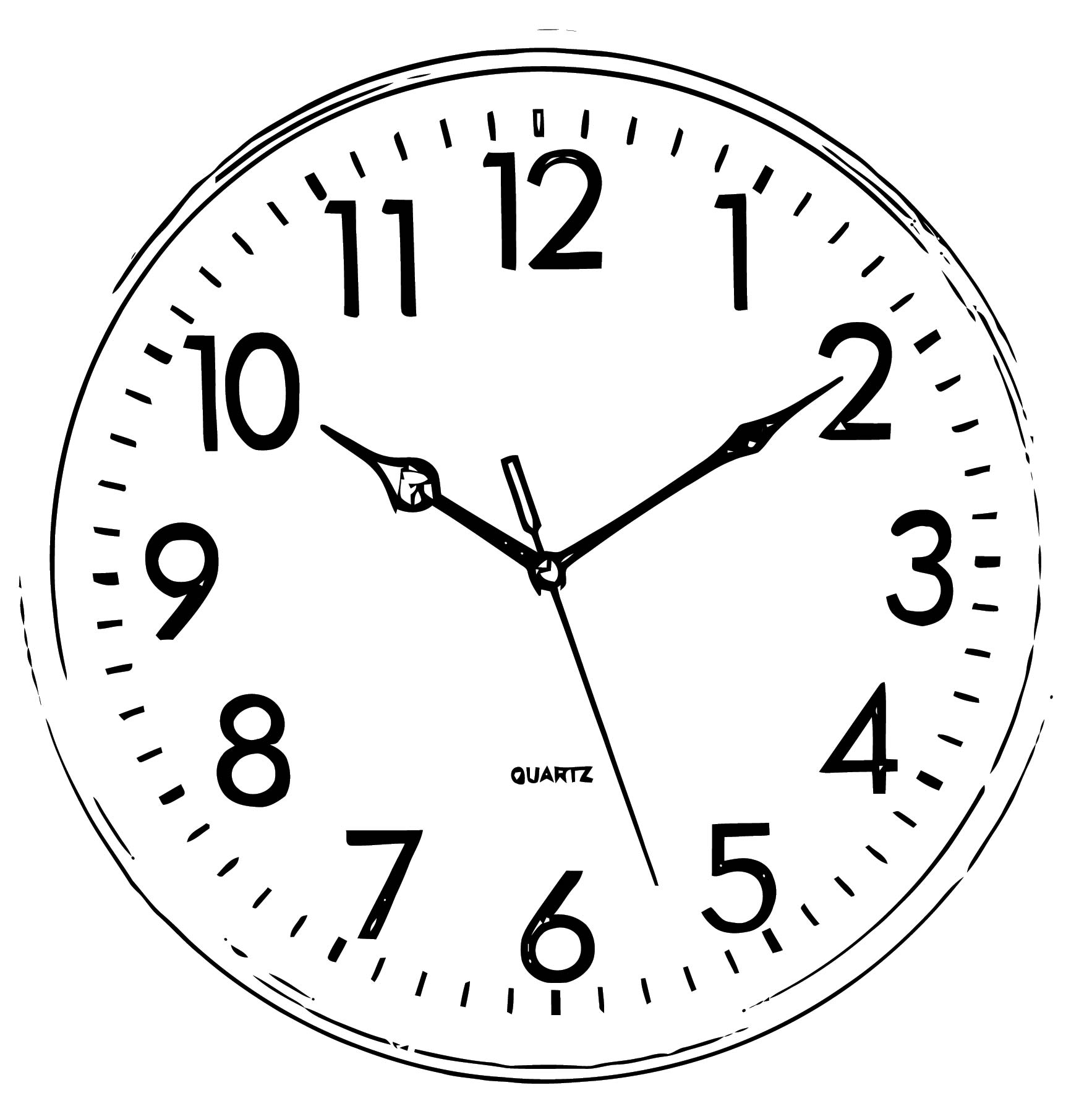 Clock Coloring Page WeColoringPage 091