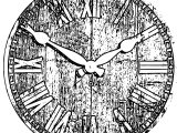 Clock Coloring Page WeColoringPage 092