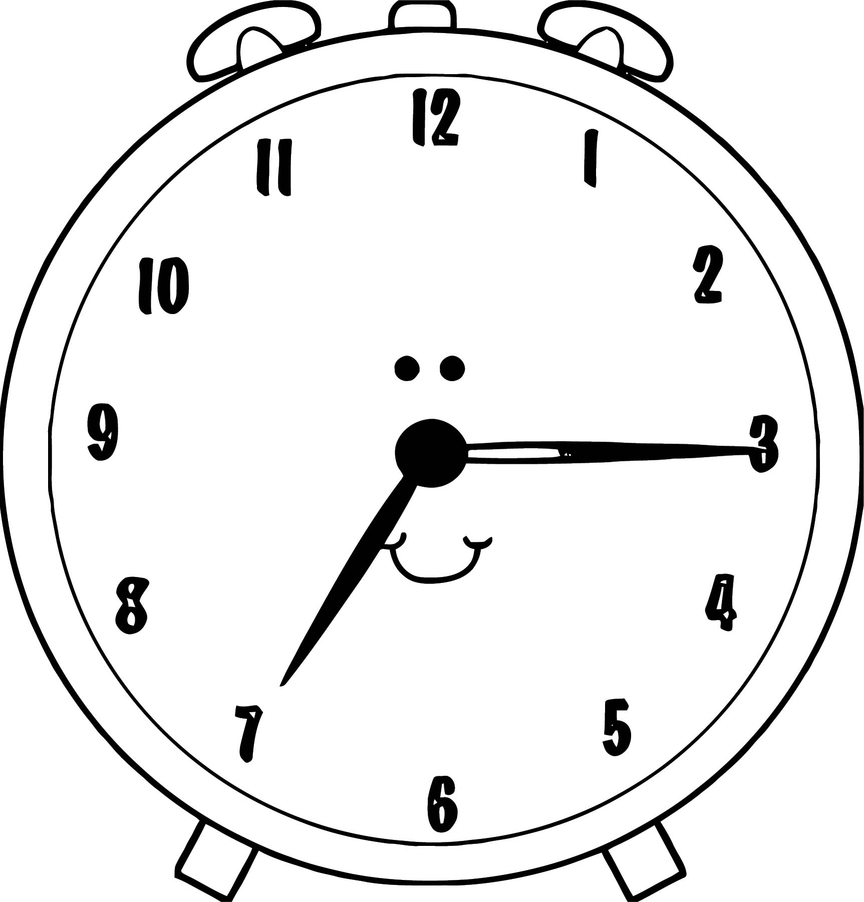 Clock Coloring Page WeColoringPage 093