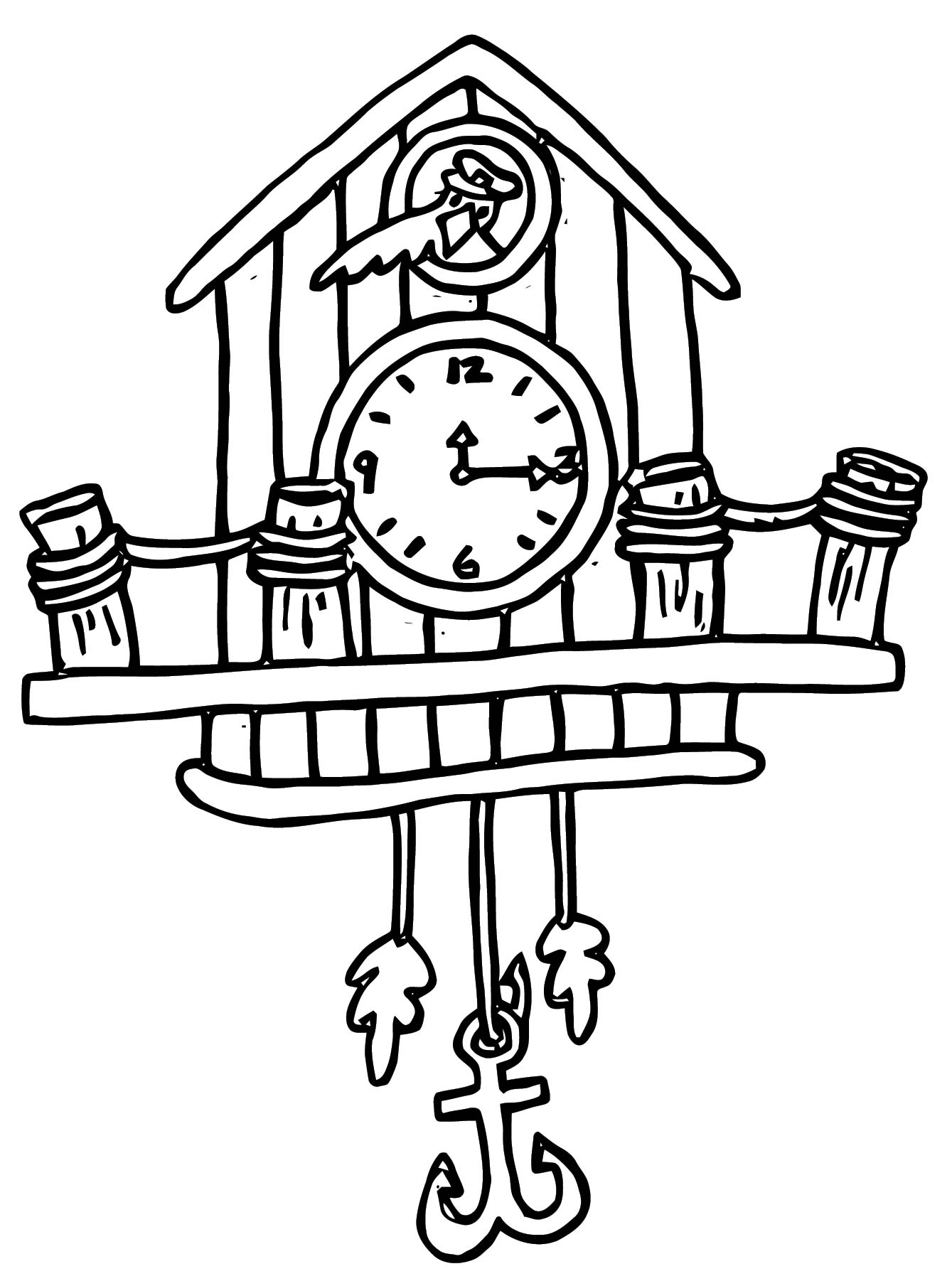 Clock Coloring Page WeColoringPage 097