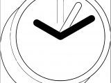 Clock Coloring Page WeColoringPage 098