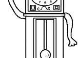 Clock Coloring Page WeColoringPage 101