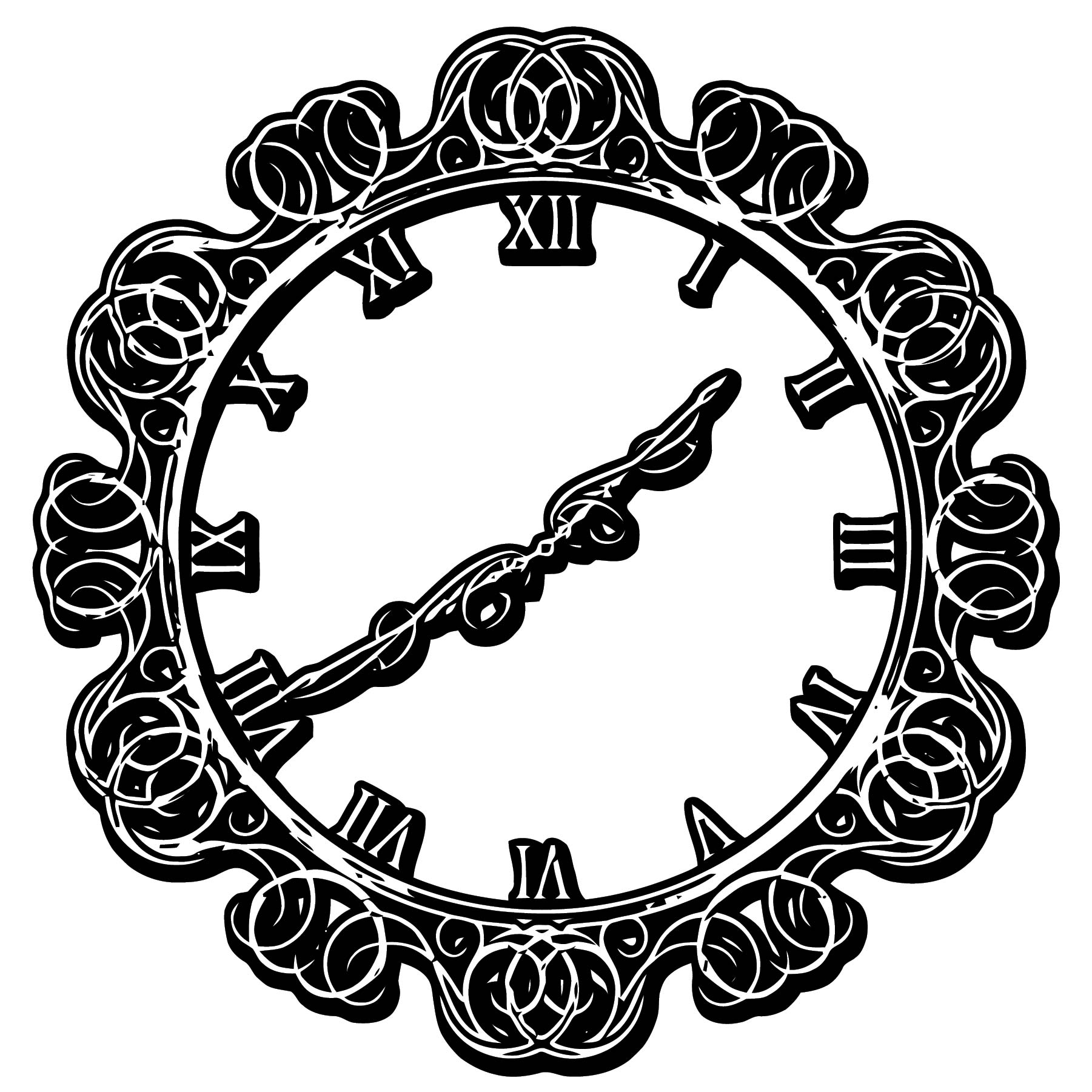 Clock Coloring Page WeColoringPage 102
