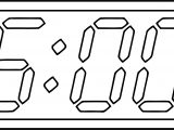 Clock Coloring Page WeColoringPage 103