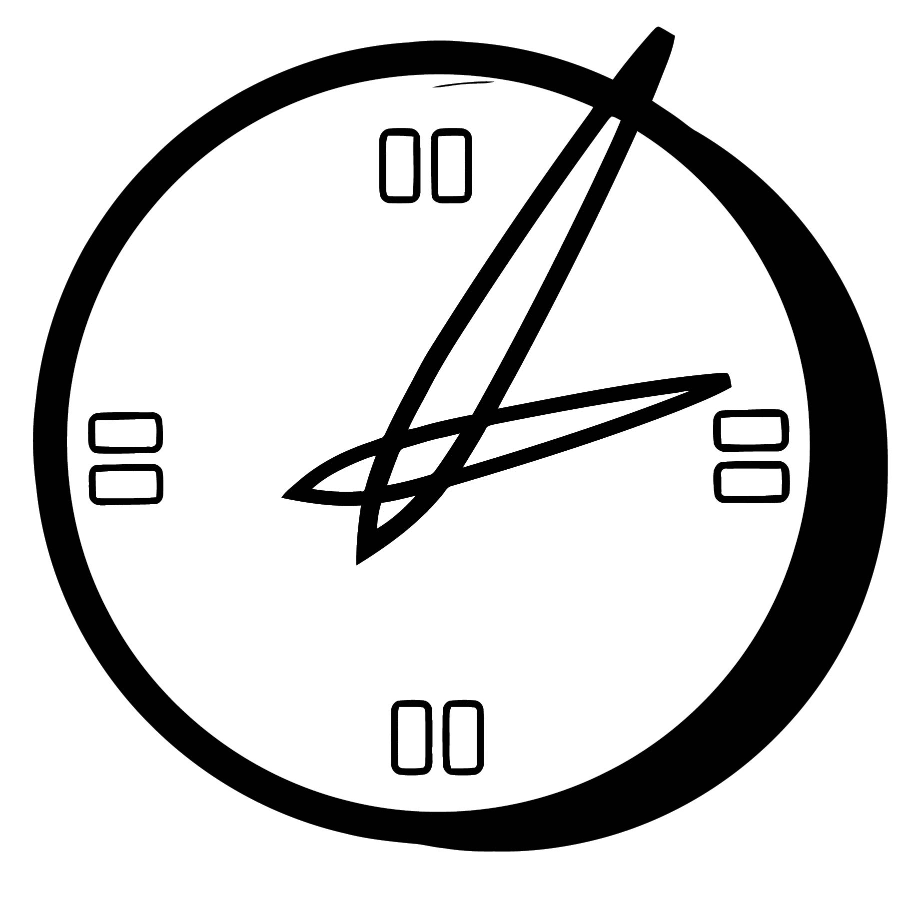 Clock Coloring Page WeColoringPage 104