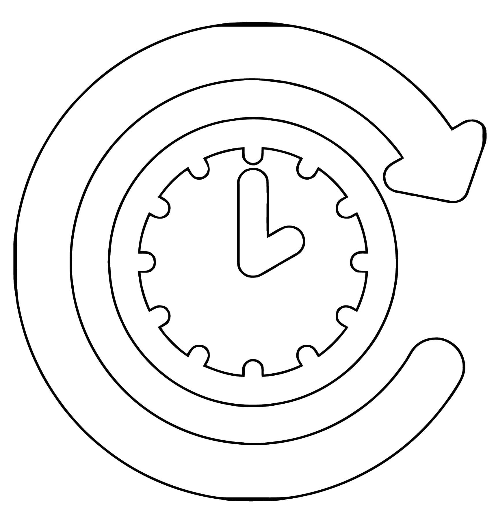 Clock Coloring Page WeColoringPage 107