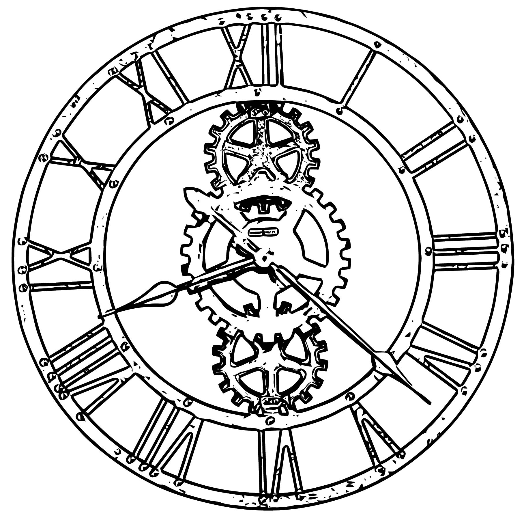 Clock Coloring Page WeColoringPage 109