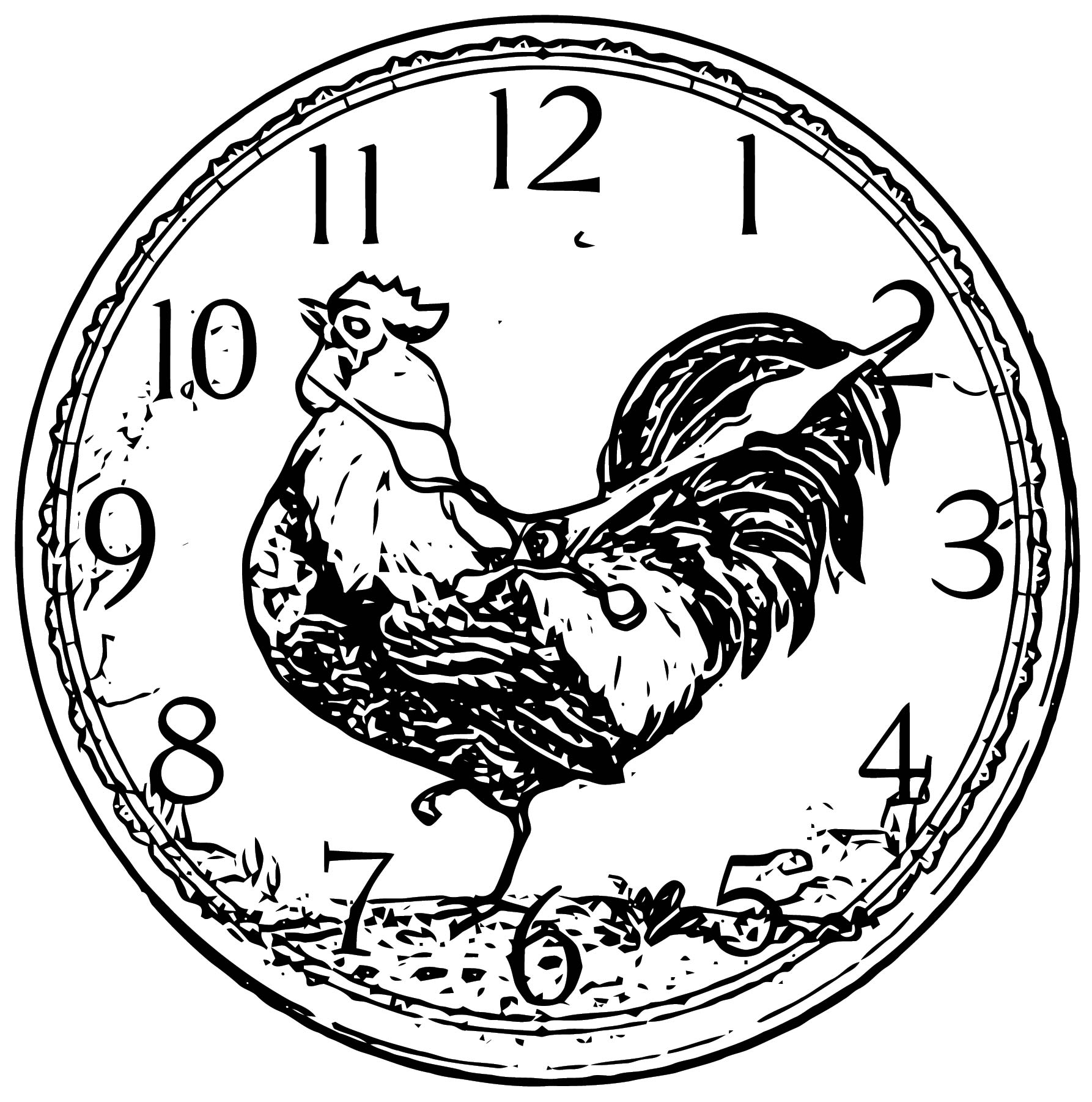 Clock Coloring Page WeColoringPage 110