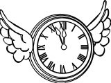 Clock Coloring Page WeColoringPage 112