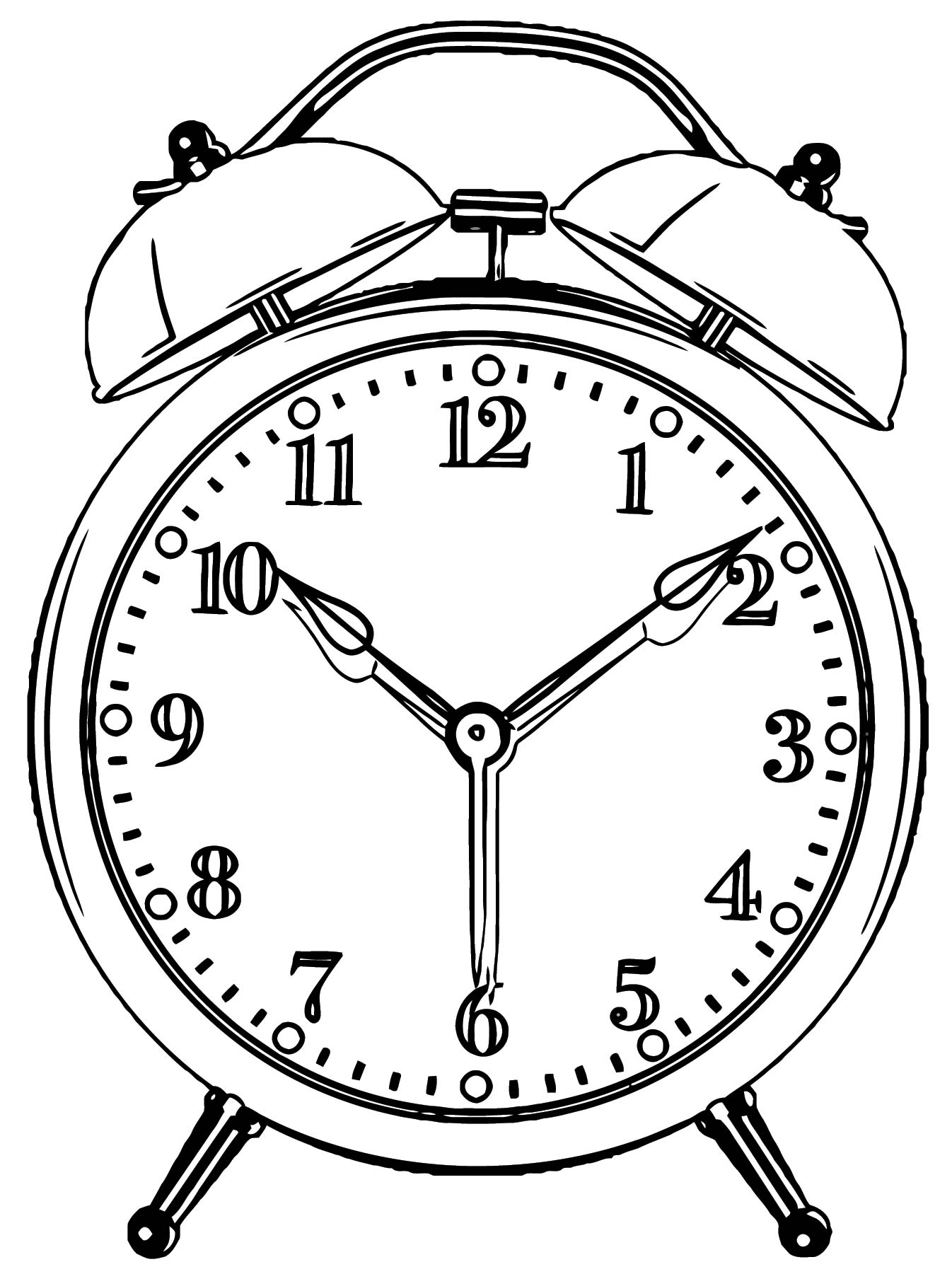 Clock Coloring Page WeColoringPage 114