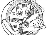 Clock Coloring Page WeColoringPage 116