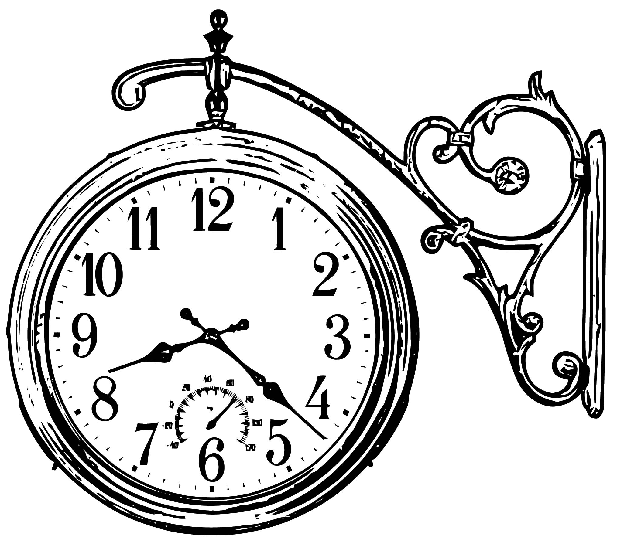 Clock Coloring Page WeColoringPage 118