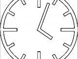 Clock Coloring Page WeColoringPage 123