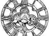 Clock Coloring Page WeColoringPage 125