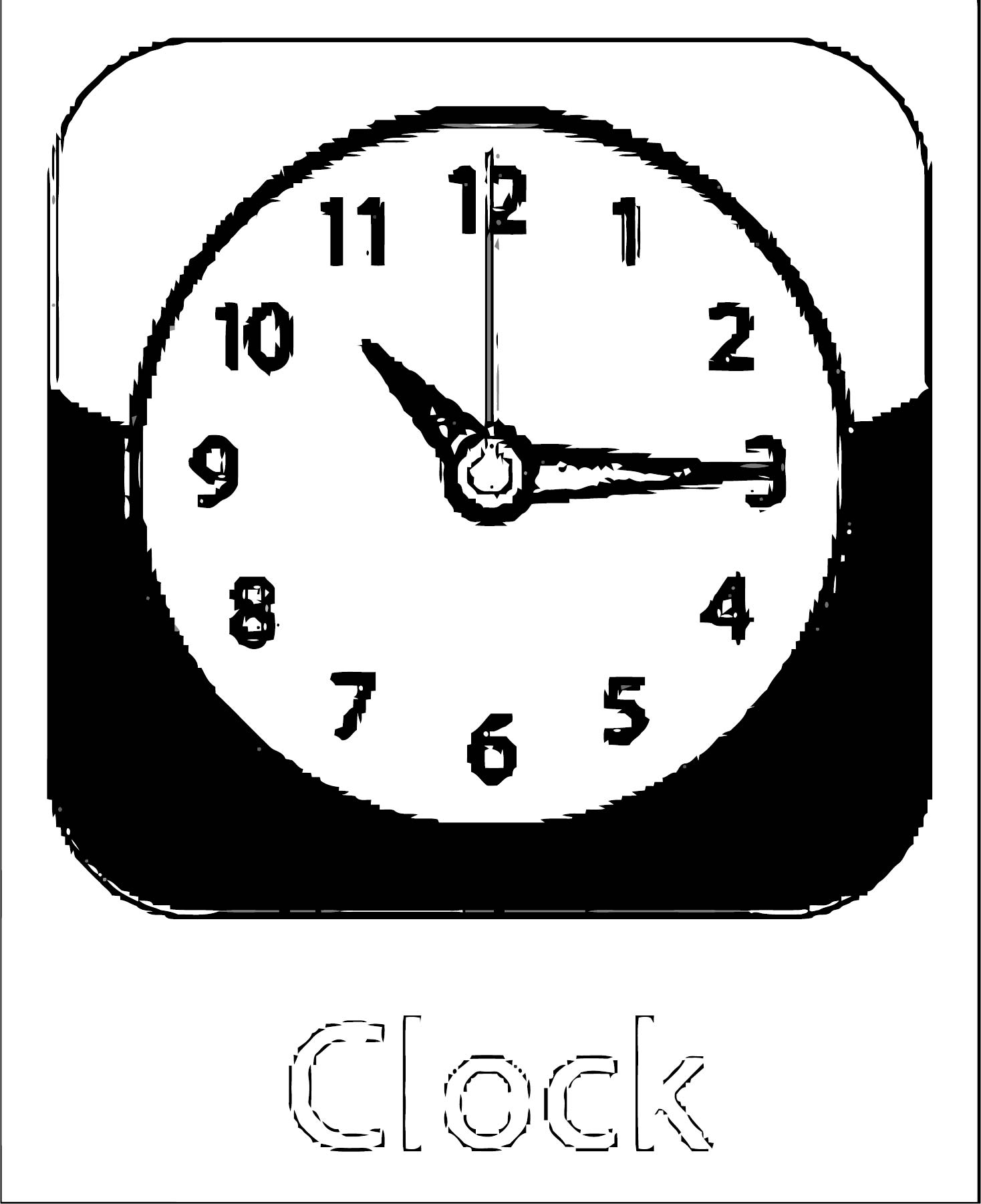 Clock Coloring Page WeColoringPage 126
