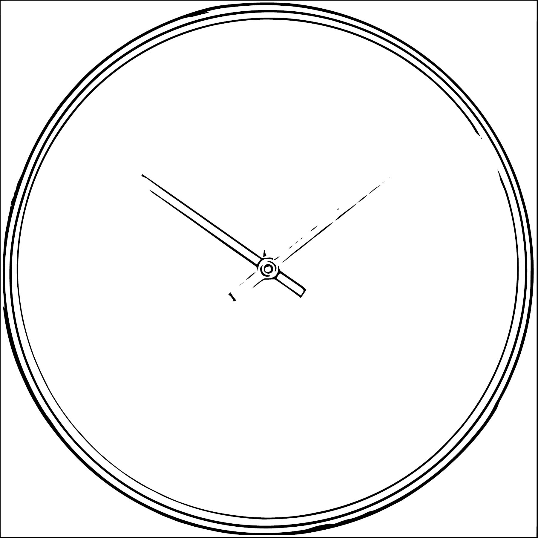Clock Coloring Page WeColoringPage 127