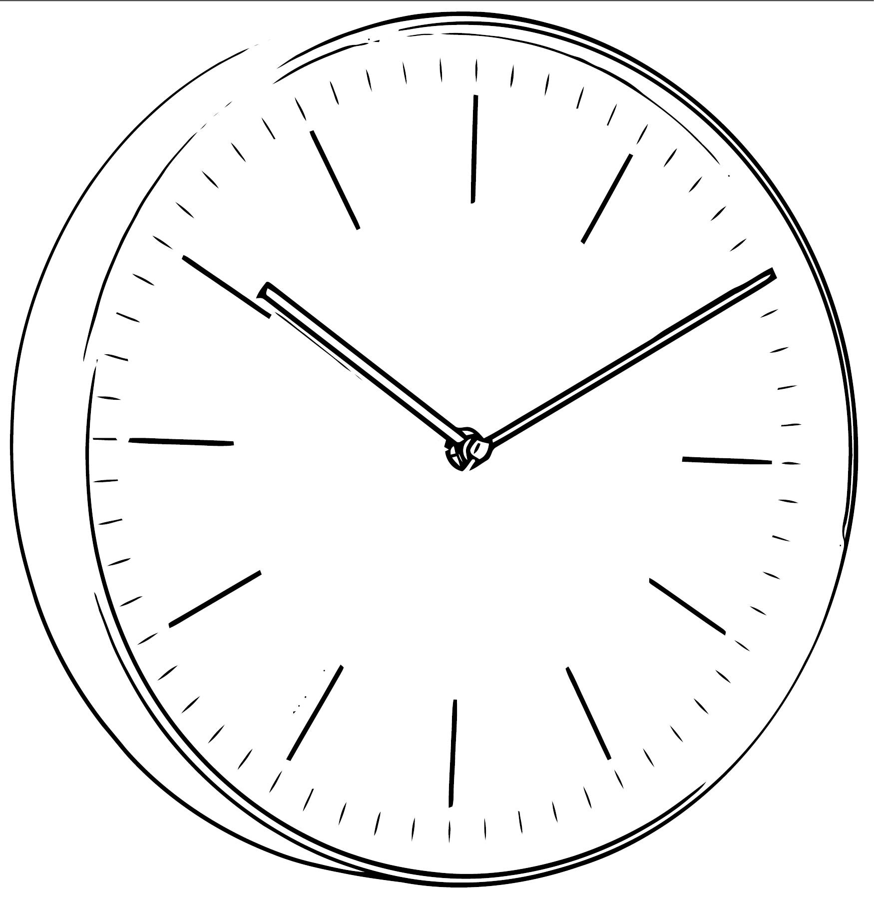 Clock Coloring Page WeColoringPage 128