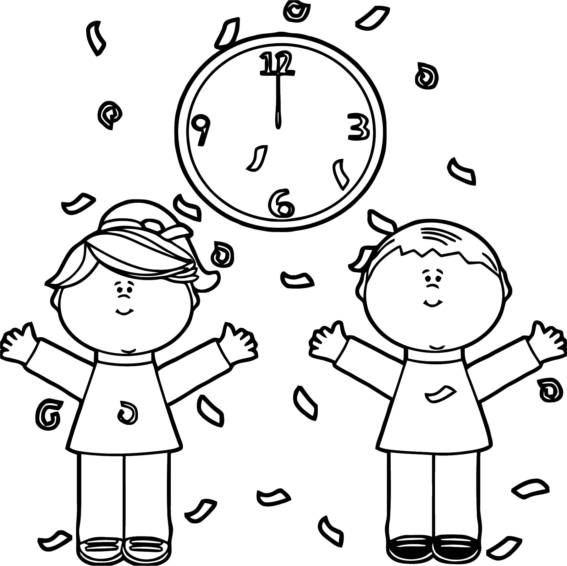 Clock Coloring Page WeColoringPage 130