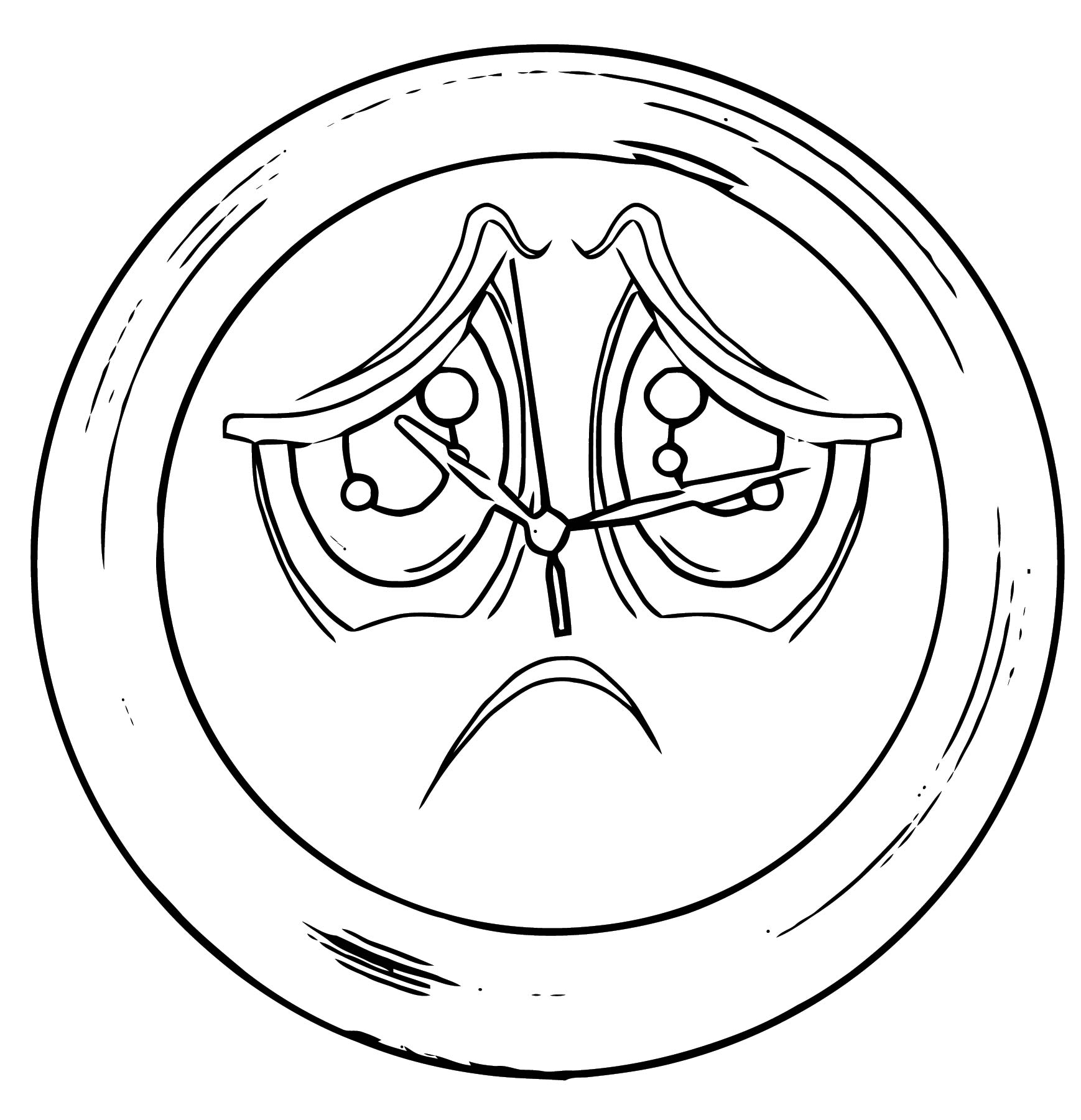 Clock Coloring Page WeColoringPage 132