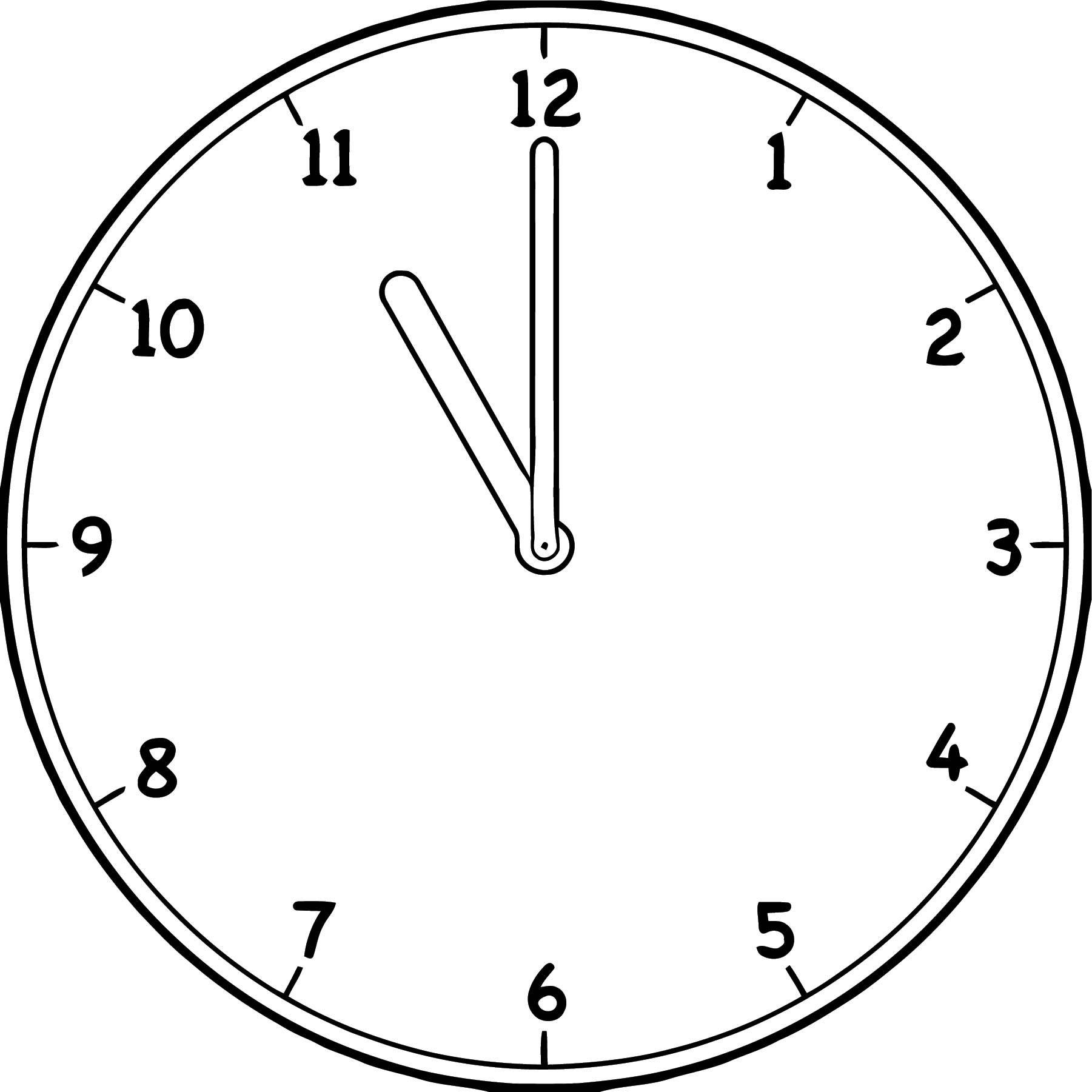 Clock Coloring Page WeColoringPage 133