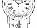 Clock Coloring Page WeColoringPage 134