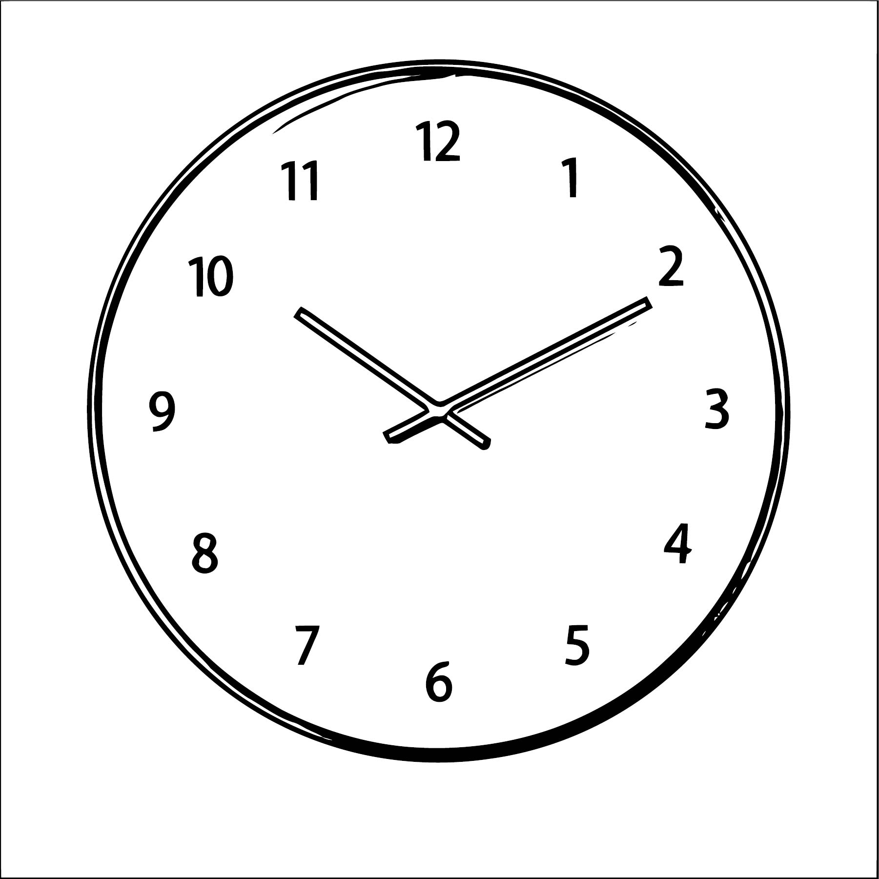 Clock Coloring Page WeColoringPage 135
