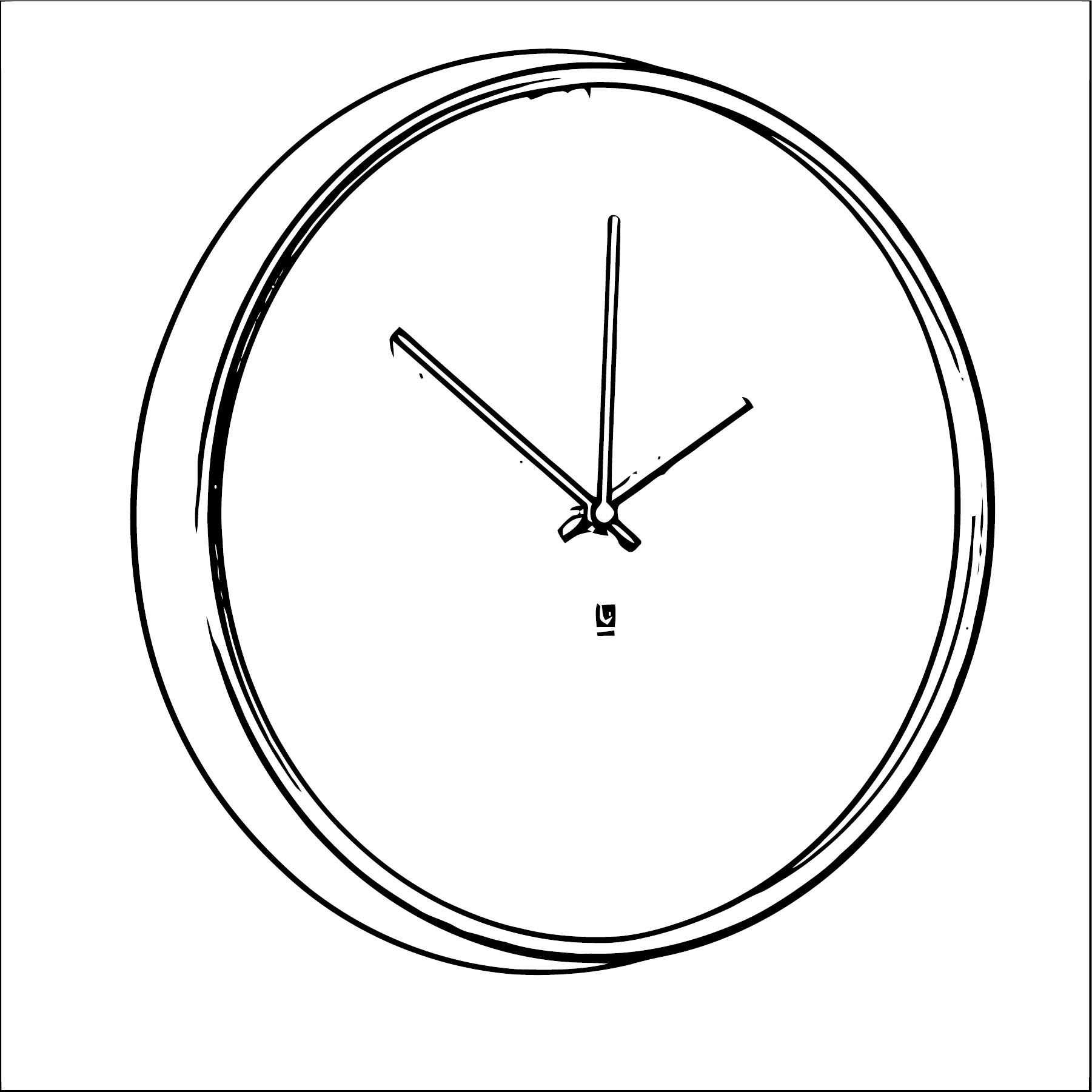Clock Coloring Page WeColoringPage 136