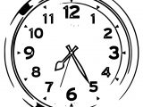 Clock Coloring Page WeColoringPage 139