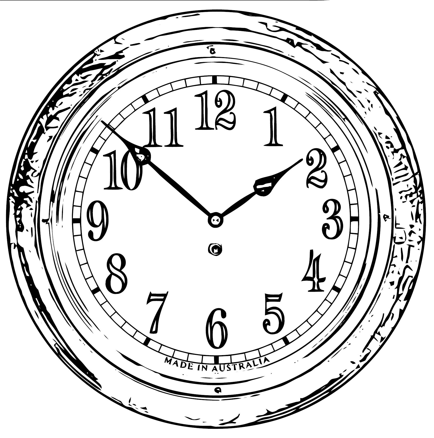Clock Coloring Page WeColoringPage 140
